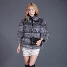 2017 Новый Природный Silver Fox Шуба Женщины Зима Теплая Натурального Меха Пальто для Женщин Жилеты Пальто Настроить C68 No name 1393748414