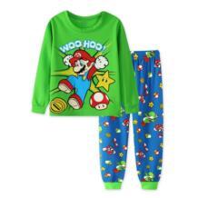 2018 Новое поступление детские пижамы набор Super Mario Bros Человек-паук Принцесса Эльза Одежда для мальчиков и девочек с рисунком аниме Хлопковые Штаны Gigur 32870850856