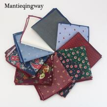 Мужской Хлопковый карман квадратный западный стиль Цветочный платок для костюма Карманный Свадебный квадратный Пейсли Ханки Mantieqingway 32370116306