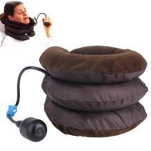 Воздух для вытяжения шеи мягкое устройство Скоба поддержка шейки тяги спины облегчение боли в плече массажер роликовый массажер Kemei 32588525950