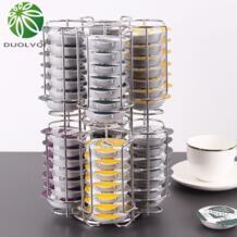 Изысканный Кофе капсулы организаторы хранения Стенд поворотный практические Кофе Pod держатель Дисплей стойки для 64 шт. Tassimo капсула duolvqi 32918501618