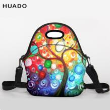 Обед мешок неопрена большой обед сумка с плечевым ремнем для Для женщин Одежда для детей; малышей; девочек huado 32845372598
