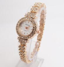 Лидер продаж Мода розовое золото часы для женщин дамы кристалл платье кварцевые наручные relogio feminino G-022 Gogoey 32362502130