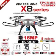 X8C X8W X8G X8HG X8 Радиоуправляемый Дрон с SJ9000 16MP 4 K WiFi Камера 2,4G 4CH FPV Quadcopter Профессиональный беспилотник вертолет 4 цвета Syma 32674667475