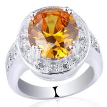 Классический Настоящее кольцо стерлингового серебра 925 для Для женщин 10x12 мм Овальный Цирконий ювелирные изделия Размер 6 7 8 9 персонализированные гравировка R021 No name 1354059521