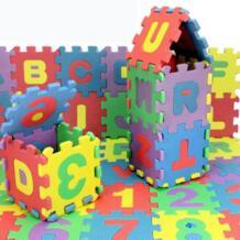 36 шт. Детские Ева пены чисел и алфавита игровой коврик Развивающие коврики No name 32648472303