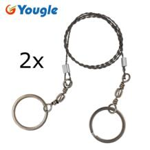 2 Pieces/lot Emergency Survival Gear Stainless Steel Wire Saw Hand Chain Saw Safety Survival Fretsaw Chainsaw Emergency Yougle 1965815087