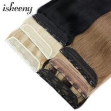 """14 """"18"""" 22 """"Клип в одном бразильские волосы на заколках зажимы Tic Tac 5 клипов remy волосы кусок Прямой зажим человеческих волос для наращивания isheeny 32955621147"""