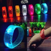 Модные вечерние голосовой активации светодиодный индикатор светится браслет свет мигает Браслеты No name 32497003982