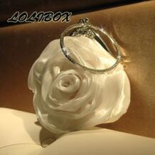 2017 мини-сумка женская сумка новый кольцо с бриллиантом пряжи цветы Женщины сцепления Сумки Женская вечерняя сумочка; BS010 для вечеринки Ежедневные клатчи платье LOLIBOX 32791948120