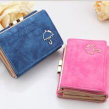 2018 брендовая дизайнерская женская сумка-клатч для монет Новый женский кошелек мини женская сумка женские короткие маленькие матовые кожаные кошельки VALINK 32607538575