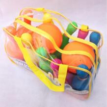 Детский Пластиковый Набор для боулинга, эмультивная Спортивная игрушка с сумочкой маленького размера-цветная No name 32844879846