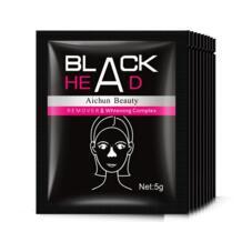 100 шт./лот маска для удаления черных точек черная маска акне отбеливания уголь экстракт Anti-Aging Черноголовых Удаление грязи маска для носа Aichun 32801303683
