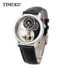 мужские и женские часы скелетоны роскошный бренд Солнце& Луна тайцзи символ Кожаный Ремешок Механические Часы # W60012M. 01A TIME100 1722780081