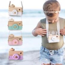 Мини Милая деревянная камера игрушки безопасная натуральная игрушка для маленьких детей модная одежда аксессуары игрушки День рождения рождественские праздничные подарки No name 32899191000