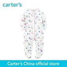 Carter's/1 шт. для маленьких детей Дети Девочка Весна Летняя одежда Встроенные footies цветочным принтом Cotton Snap-Up Sleep & Play 115G273 No name 32823220603