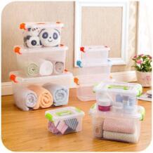 Пищевой прозрачный портативный ящик для хранения с крышкой, одежда игрушки закуски коробка для хранения HYSOO 32535110729
