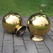 Нержавеющаясталь Flagpole сиденье украшения сада Нержавеющаясталь мяч сиденье полый шар специальный фиксированный Base LeKing 32919507811