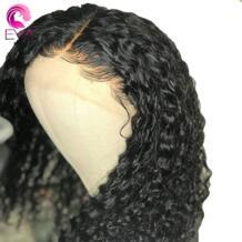 ЕВА вьющиеся волосы Синтетические волосы на кружеве натуральные волосы парики для Для женщин 13x4 Синтетические волосы на кружеве парики с ребенком волос предварительно сорвал бразильский Волосы remy glueless No name 32800457104