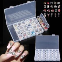 28 с перегородками, пластиковый, прозрачный отсек для хранения косметики драгоценный Шарик Чехол Коробка Регулируемый контейнер для хранения Voraca 33022000602