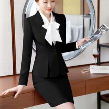 Модные женские формальные костюмы Офисная OL форма дизайн с длинным рукавом пиджак и юбка деловой костюм 2 шт наборы плюс размер 2019 Liva girl 32794258926