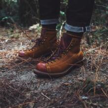 Винтажные ботильоны на платформе с круглым носком из натуральной кожи в британском стиле наивысшего качества Модные мужские рабочие мотоботы ручной работы Yomior 32949745292