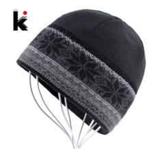 Для мужчин s Skullies катание толще Снежинка дизайнерская шапочка трикотажные Кепки для мальчиков капот шапочки зимние плюшевые кепки шапки для K KISSBAOBEI 32704101735