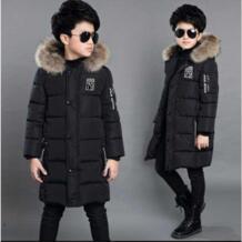 Детская одежда зимнее пальто для мальчиков Новинка 2018 года, Длинная утепленная детская хлопковая куртка Высококачественная хлопковая куртка с ручной подкладкой IIMADFWIW 32886908441