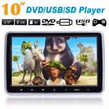 """10 """"HD TFT ЖК-дисплей Автомобильный подголовник монитор DVD/USB/SD плеер IR/fm-радио Встроенный ИК-динамик функция игры ж/пульт дистанционного управления VODOOL 32503037539"""