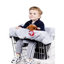 Складная детская корзина для покупок, подушка для детской тележки, подушка для детской тележки, защитный чехол для детского стула No name 32867257674