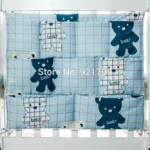 """1 шт мультфильм хлопок детская кровать висячая сумка для хранения новорожденных кроватки органайзер для игрушек карман для пеленок для Комплект постельного белья для грудных детей 24 """"* 20"""" JUST CUTE 32848767944"""