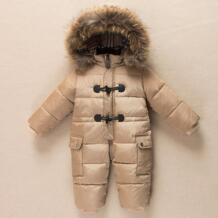 2018 русская зима теплые для маленьких девочек мальчик Snowsuit белая утка вниз детские комбинезоны толстовки для новорожденных Комбинезоны для детей ясельного возраста комбинезон No name 32892554368