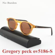 Лидер продаж! Винтаж мужские и женские солнцезащитные очки не бремя Gregory Peck5186 солнцезащитные очки поляризованные солнцезащитные очки ретро дизайнер круглые очки No Burden 32318640550