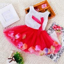 Вечерние платья-пачки принцессы с кружевным бантом и цветочным принтом для маленьких девочек, оптовая продажа WEIXINBUY 32319735979