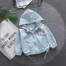 Весна новорожденных для маленьких мальчиков и девочек одежда для малышей наряды с капюшоном ветровка Верхняя одежда Детские пальто для одежда для малышей Куртки BarbieRabbit 32880995225