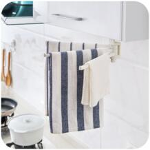 Многофункциональный 3 стержень вращающийся Регулируемая вешалка для полотенец Полотенце Держатель крючок вешалка для Кухня для ванной стационарная полка No name 32851974517