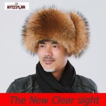 Мужская зимняя шапка-пилот с лисьим мехом русская зимняя шапка теплая шапка высокого класса Бесплатная доставка Mttzsylhh 32953165275