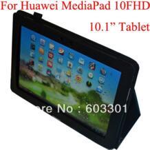 """Фирменная Новинка Искусственная Кожа Стенд чехол для Huawei MediaPad 10 FHD, для Huawei MediaPad 10.1 """"Tablet личи Кожа Защитная крышка No name 1480020078"""