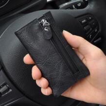 Модный мужской кошелек для ключей на талии, кошелек из натуральной кожи для монет, однотонный кошелек для ключей с карманом на молнии сзади-in Ключницы from Багаж и сумки on Aliexpress.com | Alibaba Group ERPC 32801931366