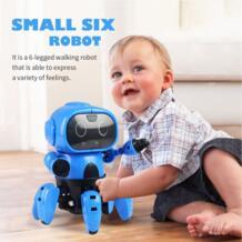 DIY RC робот умный индукционный Собранный Электрический следящий робот с жестом Датчик предотвращения препятствий детские развивающие игрушки No name 32955342809