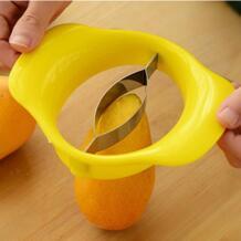 1 шт. из нержавеющей стали манго вырезать Творческий кухонный нож для манго фрукты аксессуары для гаджетов для кухни слайсер для персиков резак hoomall 32901565709