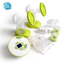 Бренд GL двойной Электрический молокоотсос с кормлением подарочной упаковке 30 шт. пакеты для хранения грудного молока + бюстгальтер для кормления + 6 шт. открывающиеся No name 32881861629