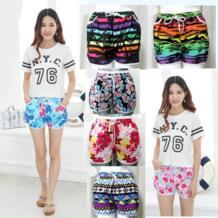 Летние женские спортивные шорты пляжные шорты Плавки пляжные брюки пляжные шорты разноцветный принт HEYAFLY 32850212774
