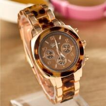 Новые Женевы металлические часы женские леопардовые Стразы Наручные часы женские золотые часы Кристалл аналоговые кварцевые дропшиппинг Gnova platinum 32230674853