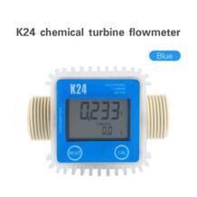 K24 турбины цифровые расходомер дизельного топлива ЖК-дисплей Дисплей тестер 10-120L/мин для химических веществ, жидких расходомер воды метр ротаметр Hilitand 32891040452