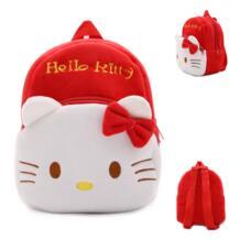 Новый Детский плюшевый рюкзак мультфильм сумки детские школьные сумки милый рисунок «hello kitty» школьный рюкзак для детского сада подарок для девочек HAPPY MONKEY 32844174533