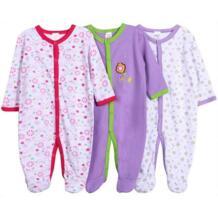 Детская одежда мальчик девочки ногой ползунки хлопка младенца сна и перейти детская одежда детские пижамы флиса ткани ползунки 3 шт./лот No name 32376945083