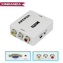 1080 P Mini VGA К AV RCA конвертер с 3,5 мм аудио VGA2AV/CVBS адаптер для ПК на HD ТВ конвертировать NTSC PAL SXGA 1920x1080 60 кадров в секунду Kinganda 32914602922