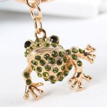 Милая лягушка, милое животное с кристаллами, Очаровательная Сумочка, брелок для ключей, брелок для ключей, вечерние подарок для свадьбы дня рождения YIXUNTONG 32274600869