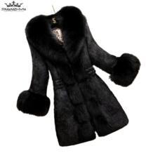 2019 Новый осень-зима Для женщин из искусственного меха пальто куртка Тонкий меховой воротник Для женщин Обувь на теплом меху пальто плюс Размеры пальто Y629 TNLNZHYN 32827111556